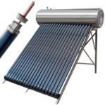 SID Napkollektor rendszer 100 literes nyomásálló külső-belső saválló inox tartály 10 vákuumcső, alumínium tartókeret! (SP-HS10SS)