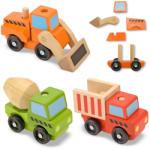 Melissa & Doug Vehicule utilitare pentru constructii din lemn (MD3076)