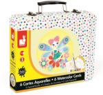 Janod Kreatív akvarell szett bőröndben