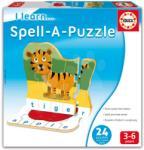 Educa Joc educativ pentru copii Învăţăm să montăm puzzle Educa 24 bucăţi în limba engleză între 3-6 ani (EDU16416) Joc de societate