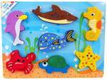 Alexis Formaillesztő fapuzzle tengeri állatokkal - minitoys