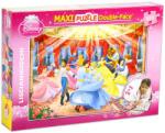 Lisciani Maxi Puzzle - Disney hercegnők a bálban 108 db-os kétoldalas színezhető puzzle (37230)