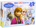 Lisciani Maxi Puzzle - Disney Jégvarázs: Anna és Elza 60 db-os kétoldalas színezhető puzzle (46881)