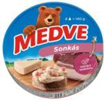 MEDVE Sonkás Kenhető Félzsíros Ömlesztett Sajt 8db (140g)