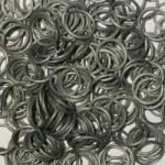 Rainbow Loom Elastice Metalic Argintiu (5400)