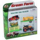 Pir Jucarie Set tractor cu remorca, cisterna si jeep