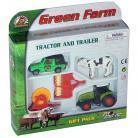 Pir Jucarie Set tractor cu utilaje agricole si jeep