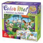Deico Games Animale színeszhető puzzle, 24 db