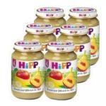 HiPP Őszibarack-alma bébiétel 4 hónapos kortól - 190g