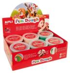 APLI Fun Dough gyurma display - Különleges színek - 480g (LCA13451)