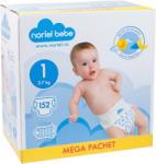 Noriel Bebe Scutece Noriel Bebe Mega Pachet, marimea 1, 152 buc, 3 - 7 kg