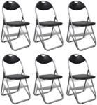 vidaXL 6 db összecsukható szék készlet