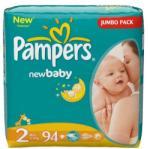 Pampers Active Newbaby 2 Mini 3-6 кг (94 броя)