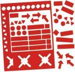 Legamaster Válogatott mágneses szimbólumok, 20 mm, piros (LM7-448202)