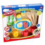 MK Toys Reggeliző konyhai játékszett, 17 darabos