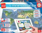 Educa Joc de societate Appuzzle Mapamundi- Harta lumii Educa în limbă engleză, franceză şi spaniolă de la 6 ani (EDU15894) Joc de societate