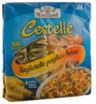 Pasta Montegrappa Tagliatelle zöld sárga tészta 500g