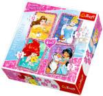 Trefl Disney hercegnők - Hercegnők barátokkal 4 az 1-ben puzzle (34256)