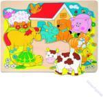 Woodyland Formakirakó falap puzzle - a farm állatai
