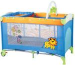 BabyGO Patut pliant cu 2 nivele SleepWell Zoo - soffiplanet