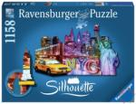 Ravensburger Sziluett puzzle - New York City 1158 db-os (16153)