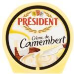 PRÉSIDENT Créme De Camembert Camembert Ízű Kenhető Zsíros Ömlesztett Sajt (150g)