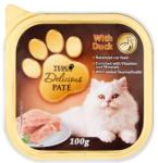 TESCO Delicious teljes értékű állateledel pástétom felnőtt macskák számára kacsával 100 g