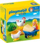 Playmobil 1.2.3. Farmerlány csirkékkel (6965)