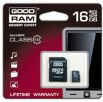 GOODRAM MicroSDHC 16GB Class 10 SDU16GHCUHS1AGRR10