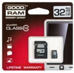 GOODRAM microSDHC 32GB C10/UHS-I SDU32GHCUHS1AGRR10