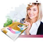 RAYFILM Etichete autocolante albe superlucioase, 20 coli/top, RAYFILM