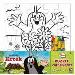 JIRI MODELS Kisvakond színezhető puzzle zsírkrétákkal 20db-os - Jiri Models (0674-7)