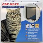 Cat Mate 357w Nagyméretű üvegajtóba Szerelhető Macskaajtó-fehér