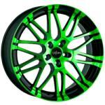Oxigin 14 Oxrock Neon Green Polish 5/120 22x10 ET20