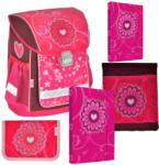 Mira Office kompakt iskolatáska REY BAG - FLOWER - VIRÁG - 5 darabos készlet
