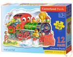 Castorland Maxi Puzzle - Vidám vonatozás 12 db-os (B-120055)