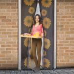 Delight Mágneses szúnyogháló függöny ajtóra, 100x210cm - napraforgós minta (11398A)