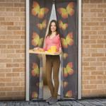 Delight Mágneses szúnyogháló függöny ajtóra, 100x210cm - pillangós minta (11398C)