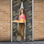 Delight Mágneses szúnyogháló függöny ajtóra, 100x210cm - army mintás (11398D)