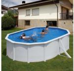 Pontaqua Fémfalas, ovális, családi medence 500x300x120cm (FFA 751)