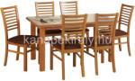 HALMAR Emil nyitható étkezőasztal Gerard  székekkel - 6 személyes