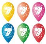 Party4U 7-es számos gumi lufi 5db