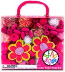 Bead Bazaar Virágos gyöngy csokor - rózsaszín