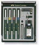 Faber-Castell TG1-S csőtoll készlet 0,25mm 0,35mm 0,5 mm 0,7mm