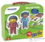 Miniland Fűzhető öltöztető kártyák különböző nemzetek gyermekei (fiú-lány), Miniland (ML-36033)
