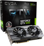 EVGA GeForce GTX 1080 FTW GAMING ACX 3.0 8GB GDDR5X 256bit PCIe (08G-P4-6286-KR) Videokártya