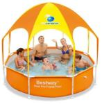 Bestway Piscina Steel Pro cu Acoperis UV Careful 56432 Piscina