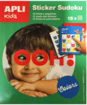 Apli Kids Mini játékok Sudoku matricázó zöld Apli Kids