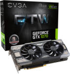 EVGA GeForce GTX 1070 FTW GAMING ACX 3.0 8GB GDDR5 256bit PCI-E (08G-P4-6276-KR) Видео карти