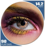 Edit Edit Chocolate Brown - lentile de contact colorate albastre trimestriale - 90 purtari (2 lentile/cutie)